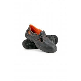 Легкие кожаные сандалии для работы Практик с мет подноском и перфорацией