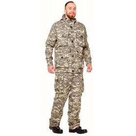 Флисовый костюм Следопыт демисезонный ткань рип-стоп цвет пустыня серая