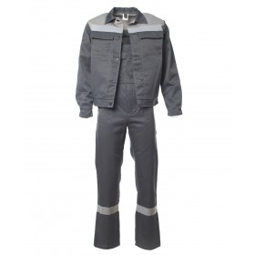 Летний костюм Оптимал темно-серый с серым
