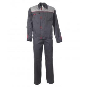 Летний костюм Фаворит 1 куртка и брюки темно-серый с серым
