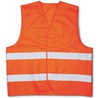 Жилет сигнальный хлопковый с СОП оранжевый