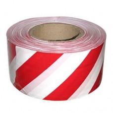 Лента сигнальная бело-красная 75*200