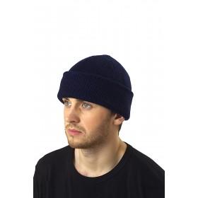 Зимняя шапка трикотажная синяя
