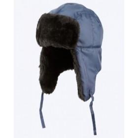 Зимняя шапка-ушанка Антифрост синяя