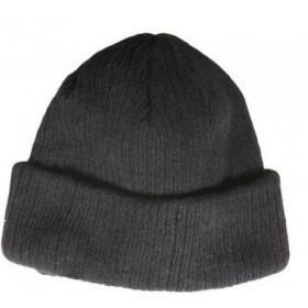 Зимняя шапка трикотажная серая