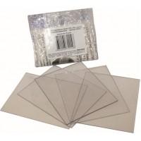 Комплект сменных покровных стекол для щитка сварщика 110х90