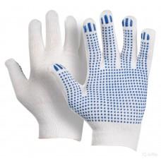 Перчатки хб 13 класс ПВХ точка улучшенные