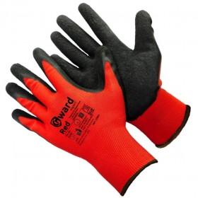 Купить перчатки нейлоновые с черным текстурированным латексом RED в Санкт-Петербурге и Ленинградской области с доставкой