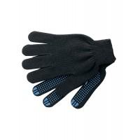 Перчатки хб 4 нити 10 класс ПВХ точка черные