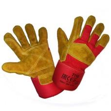 Перчатки спилковые комбинированные Русские Львы усиленные