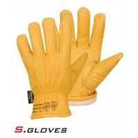 Кожаные утепленные перчатки NEMAN