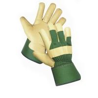 Кожаные утепленные комбинированные перчатки ROSE FINCH