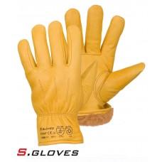Кожаные утепленные перчатки SOBAT