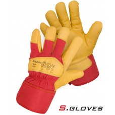 Кожаные утепленные комбинированные перчатки TRAUN
